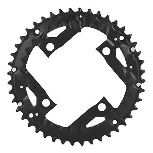 VGEBY Plato de Bicicleta, Plato de aleación de Aluminio Redondo para Bicicleta 44T para Bicicleta BCD 104mm 9 velocidades