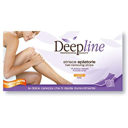 DEEPLINE Harsstrips ontharingsstrips wasstrips voor vrouwen 6 dubbele strepen