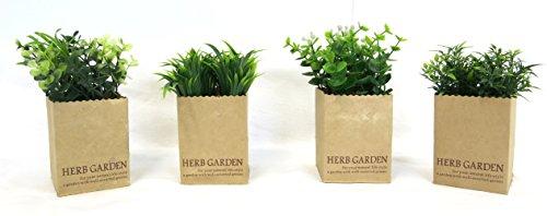 Decoline Kunstpflanze 4er Set Gräser 7 x 14cm