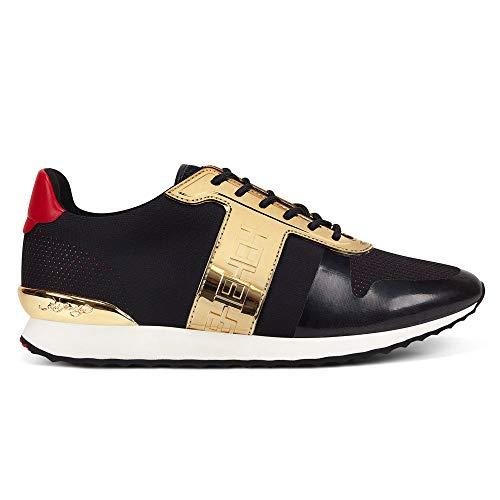 Ed Hardy Mono Runner Metallic Black/Gold Sneaker, Schwarz - Schwarz  - Größe: 45 EU