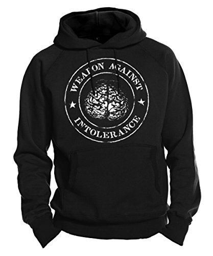 Stoned Washed Shirtz Kapuzensweatshirt - Weapon Against Intolerance - Kapu, Hoodie, Punk, HC, schwarz (M)