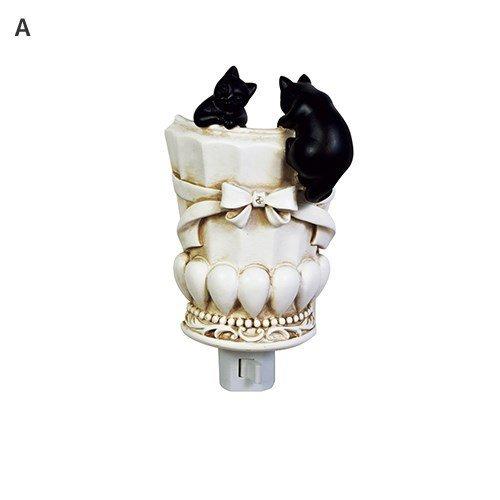 GENTIE antieke stijl zwarte katten voet LED-lamp, nachtlampje G-5155A