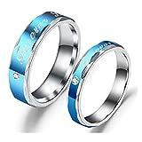 forever love 刻印 ダイヤが輝く 金属アレルギー対応 肌に優しい サージカルステンレス リング カップル ペアリング メンズ リング レディース リング婚約指輪 結婚指輪 9-25号揃え (27メンズ 21)