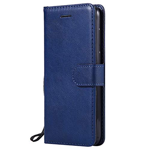 Hülle für Huawei Y5 2018/Honor 7S Hülle Handyhülle [Standfunktion] [Kartenfach] Tasche Flip Hülle Cover Etui Schutzhülle lederhülle flip case für Huawei Y5 2018 - DEKT050958 Blau