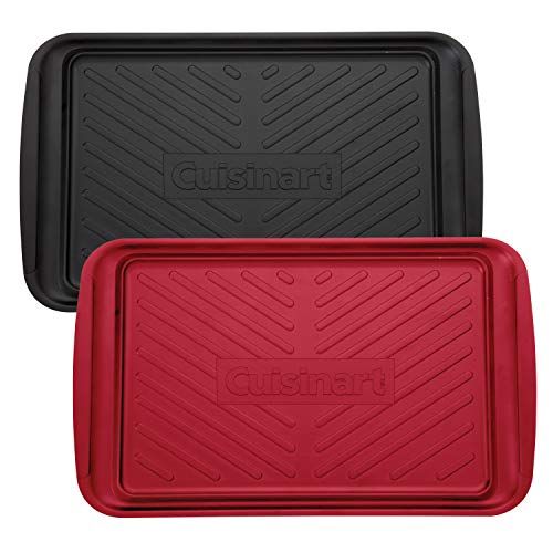 Cuisinart CPK-200 Grilling Prep and Serve Trays, Black and Red