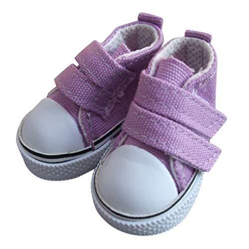 babysbreath17 1 Zapatos de Lona muñeca Par 5 cm seakers muñeca de Juguete Calzado Deportivo Zapatillas de Tenis para niños Juguetes del Regalo púrpura 5 * 2.6cm