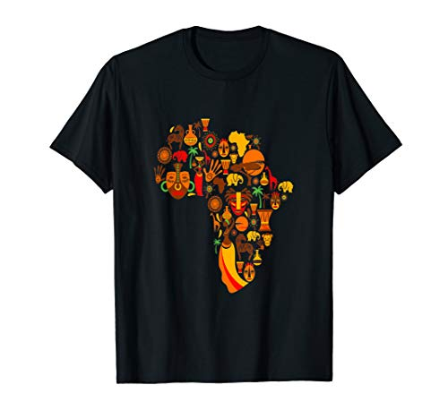 Africa Shirt Black Girl Magic Tribal Culture History Roots T-Shirt