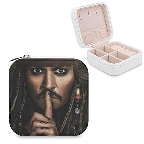 Caja de joyería piratas caribeña de piel sintética de viaje, portátil, para collar, pendientes, pulseras, anillos, relojes, caja de almacenamiento para mujeres