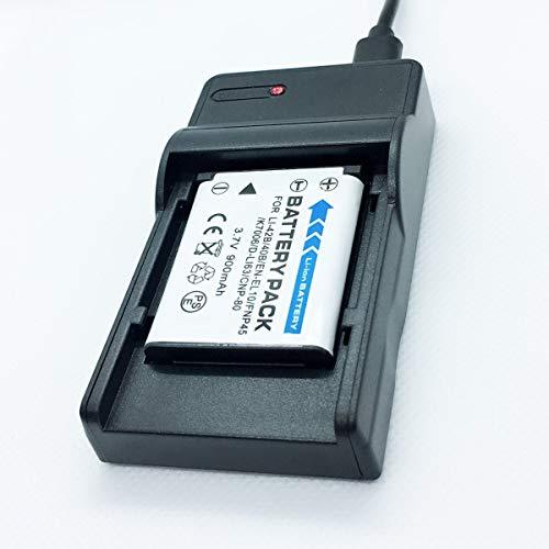 Cámaras Quick Battery Pack y kit de cargador de baterías de viaje rápido USB de repuesto Compatible con KODAK EasyShare M580, M583, M750, M873, M883 Accesorios para cámaras digitales