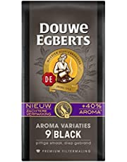 Douwe Egberts Filterkoffie Aroma Variaties Black Premium (3 Kilogram, Intensiteit 09/09, 100% Arabica Extra Dark Roast Koffie), 12 x 250 Gram
