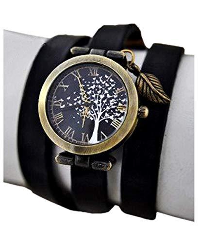 Bezaubernde Damen-Armbanduhr mit Schmetterlingsbaum - Schwarz - Uhr - Geschenk für Sie - Schmuck-Geschenk - Handmade Geschenk