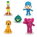 5Pcs Aniem Figura Pocoyo Zinkia Lindo Juguete Muñeca De Regalo, PVC Animal Estatua Figuras Niños Juguete Decoración De Escritorio 4-10cm
