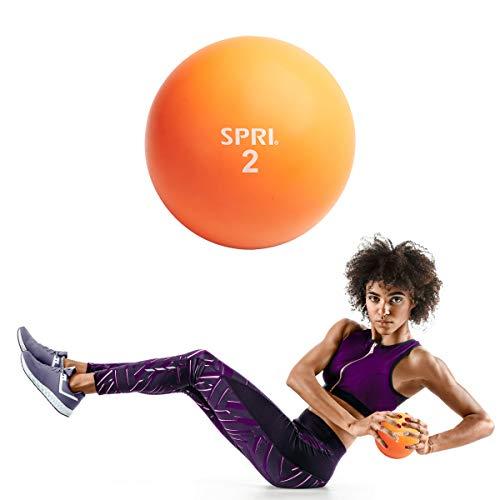 SPRI 2 LB Soft Toning Ball Hand Held Medicine Ball for Exercise Women Men Fitness Strength Training Equipment
