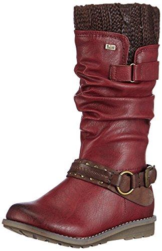 Rieker Kinder Damen Teens Kurzschaft Stiefel, Rot (35), 37 EU