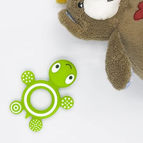1ud   Mordedor para bebé de silicona   Verde