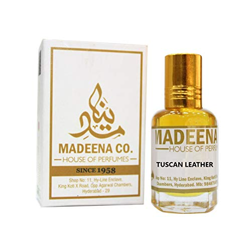 MADEENA CO. Tuscan Leather 6ml, Real And Natural Attar, Unisex, 100% Alcohol Free And Long Lasting