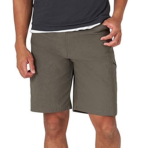 Pantalones de deporte para hombre, estilo vintage, pantalones cortos para correr, fitness, slim fit, para el tiempo libre, chándal, pantalones de chándal verde 32