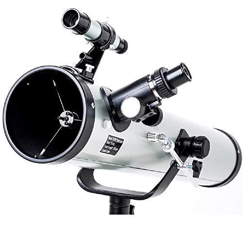 Telescopio astronomico, telescopio ad Alta Definizione Principianti, 525 ingrandimenti, mm Diametro Grande 114, Dotata di treppiede Ultraleggero LMMS (Color : -, Size : -)