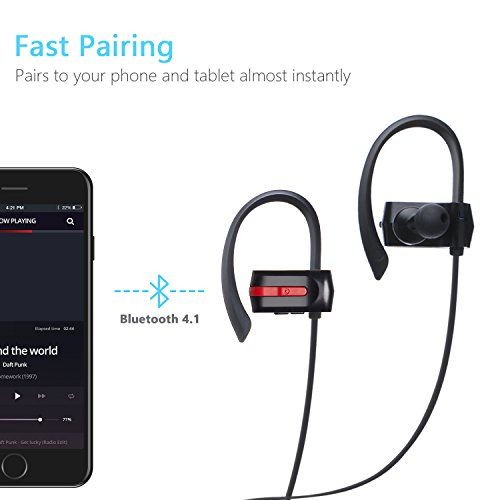 Bluetooth Headphones, ZENBRE E3 Bluetooth 4.1 Stereo In-ear Headphones, Wireless Headphones Up to 7h Playtime, Sweatproof Nosie Isolating with Enhanced Bass (Black)