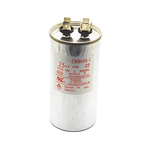 CBB65 Metallized Polypropylene Film Non Polar Motor Capacitor 25uF AC450V CBB65A