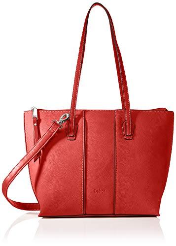 Gabor bags Umhängetasche Damen Anni, Rot, M, Handtasche, Tasche Damen