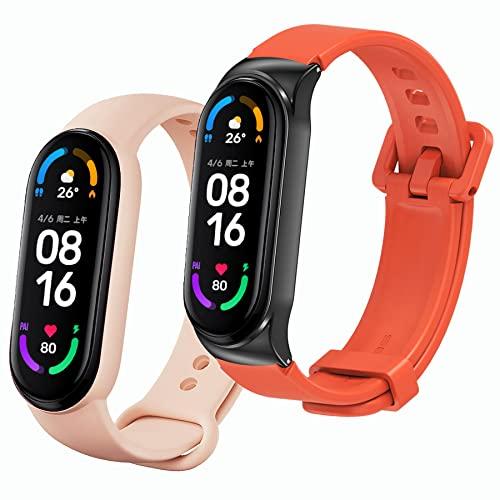 BDIG 1* Correa Compatible para Xiaomi Mi Band 6/5/4/3, 1* Silicona Pulsera de Repuesto Colorida Correas para Relojes Xiao Mi Band 6/5 (No Host)
