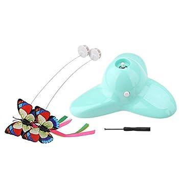 Nitrip Jouet Chat-Tease Rotatif Papillon Lumineux Rotatif électrique 360 ° Rotatif Chat Teaser Jouet