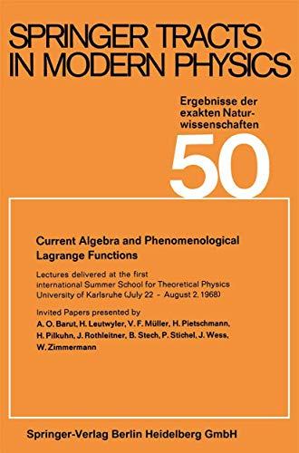 Current Algebra and Phenomenological Lagrange Functions: