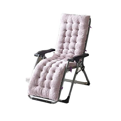 YWTT Sun Lounger Kissenauflagen Lounge Chair Kissen Velvet Thicken Sessel Sitzkissen Bürostuhl Matratze Massage Pad (Hellviolett, S (130x50x12cm))