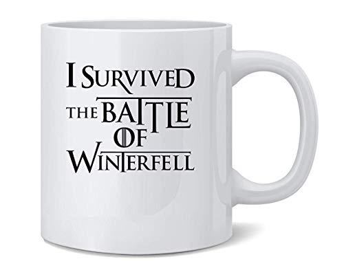 11 oz Ceramic Mug, Housewarming Gift, I Survived The Battle of Winterfell Coffee Mug Tea Cup