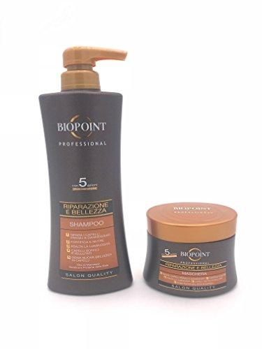 BIOPOINT Kit de reparación y belleza para el cabello, champú de 400...