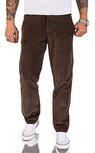 Rock Creek Herren Cord Hose Regular Fit Chino Hose Klassische Hosen Herrenhose Straight Cut Chinos Herren Cordhosen RC-2156 Mocca W32 L32