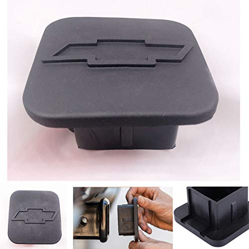 Trailer Hitch Tube Cover Plug Cap for Chevrolet,Rubber Receiver Tube Hitch Plug,Trailer Hitch Cover (fit Chevrolet)