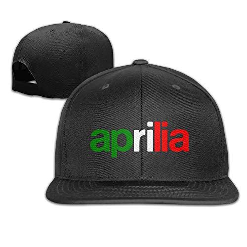 SHUIFENG66 Feruch CACA Aprilia Logo and Italia Flag Snapback Hats/Baseball Hats/Peaked Cap Black,Hüte, Mützen & Caps