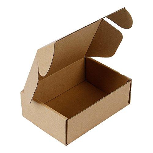 RUSPEPA Anuncios Publicitarios Reciclados De Cajas De Cartón Corrugado - Caja De Cartón Perfecta Para Envíos Pequeños - 15.8 X 10.2 X 5.1 cm - Paquete De 50 - Kraft