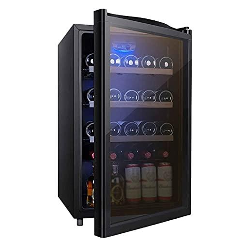 Vinerafrigorifico para Vino,Inicio Termostato Vino Humectante Refrigerado por Aire Vinoteca Botellas Vertical Compresor Frigorifico con Panel Táctil Y Pantalla LED Temperatura Regulable Entre 3 Y 1