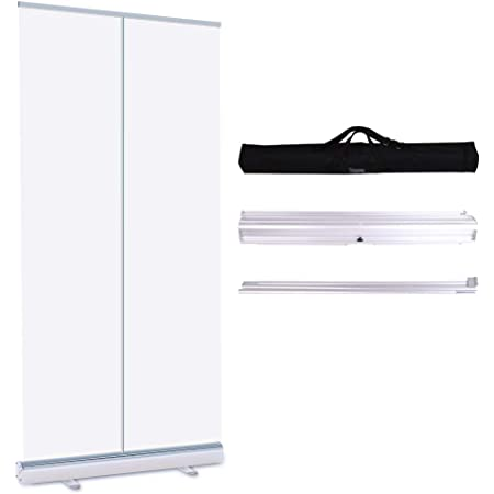 AINH Dialogue with Each Other Pull Up Roller Banner,PVC Sneeze Guard Divider,Retractable Germ Shield Screen Hygiene Partition,Gym Barber Businesses Size : 80x200cm//31.5x79in