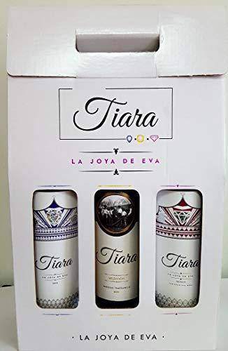 Estuche Regalo Vino 3 Botellas Bodegas Tiara - 2 Vinos Blancos y 1 Vinos tinto de Extremadura