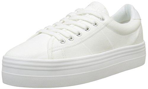 Unbekannt No Name Damen Plato Niedrige Sneaker, Weiß/Weiß, 39 EU