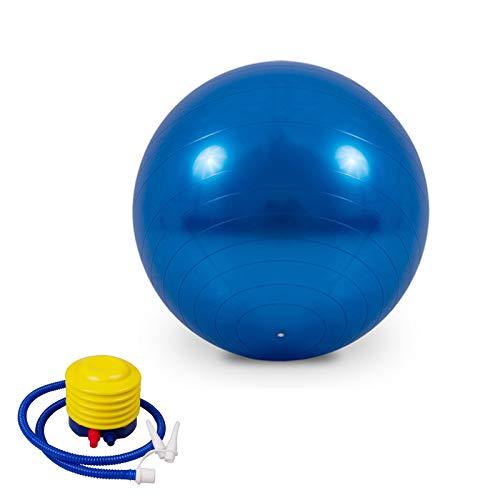 EYLIFE Pelota de Ejercicio para Fitnes, Pelota de Gimnasia Anti-Reventones, Pelota Pilates Embarazadas con Bomba de Aire para Yoga, Equilibrio, Fitness, Entrenamiento, 65cm,Azul