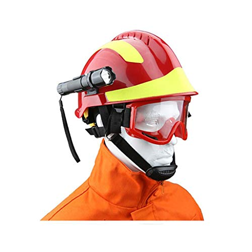 Cascos de Seguridad Casco de ABS Con Gafas de Linterna Fácil de Desmontar Diseño de Tira...