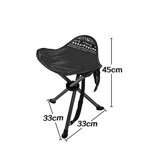 Chaises pliantes Tabouret Pliant portatif, métal, épais, Pliant, portative extérieure, pêche, Escalade, Poids résistant 100Kg (Color : Purple)