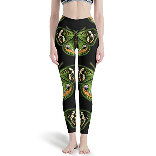 RQPPY Elastische Yoga Sporthose Mädchen Butterfly Training Tights für Gym Sport White XL