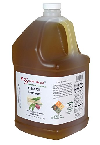 Olive Oil - Pomace Grade - Food Grade - 1 Gallon - 128 oz - safety sealed HDPE container with resealable cap