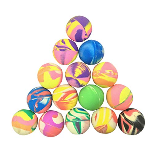 STOBOK 25 Stücke Springenden Kugeln Gummi Federball Outdoor Geburtstagsfeier Beutel Füllstoffkugeln Schule Preis Festival Geschenke Mischfarbe 32Mm