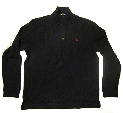 Polo Ralph Lauren Men's Half Zip French Rib Cotton Sweater X-Large Polo Black