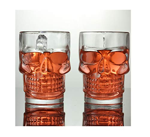 Gepersonaliseerde Double Wall Crystal Skull Bekers Glas Wijn Beer Cup Tea Cup Transparent (500 ml/set van 6)
