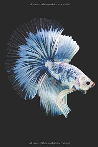 Aquarium Tagebuch: Planer, Notizbuch, Bestandsbuch, Futterplan für alle Auqarianer und Aquaristik Fans ♦ Logbuch für über 100 Einträge ♦ 6x9 Format ♦ Motiv: Weißer Fisch
