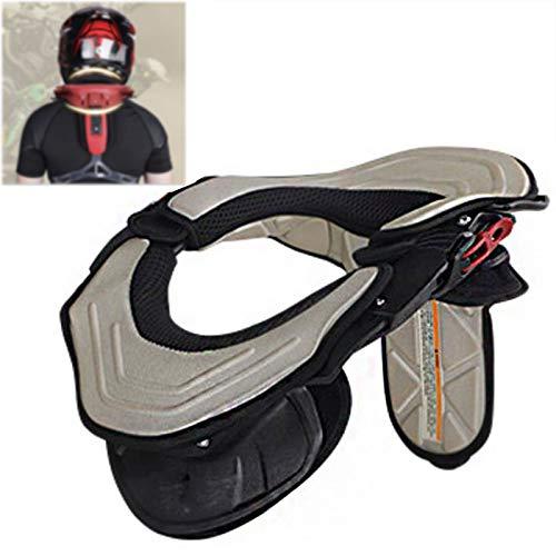Enwebalay Nackenschutz Motorrad, Erwachsene Nackenprotektoren Stabilizing Collar, Karte Racing Sicherheitshalsband Motocross AusrüStung,Schwarz