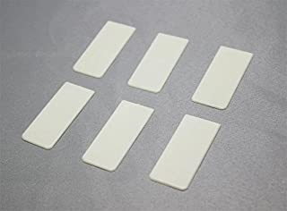 Piano Keytop Heads Simulated Ivory - Set of 6 - Piano Key Replacement